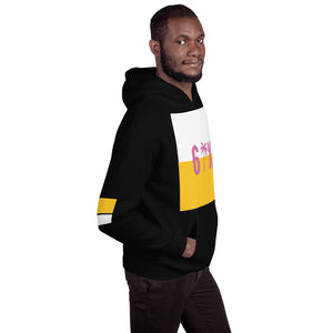 Sudadera con capucha Black, Yellow and White.