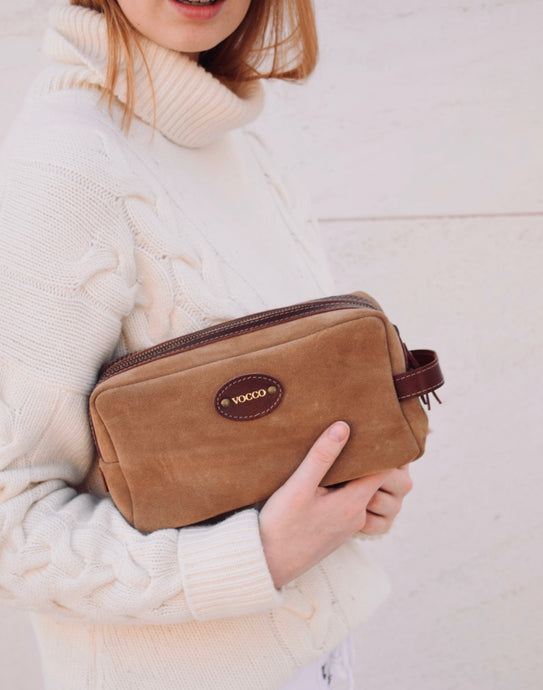 Vocco Hazelnut Leather Toiletry Case - Vocco