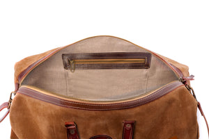 Vocco Hazelnut Weekender Leather Bag - Vocco