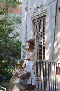 Vocco Weekender Bag Mediterraneo Leather Taupe - Vocco
