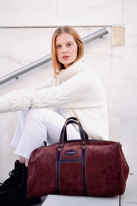 Vocco Terracotta Leather Weekender Bag - Vocco