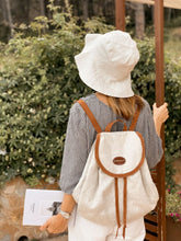 Load image into Gallery viewer, Vocco Linen Backpack Tobacco - Vocco