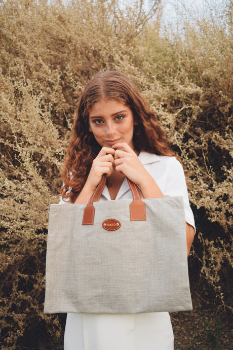 Vocco Shopper Bag Mediterraneo Tobacco - Vocco