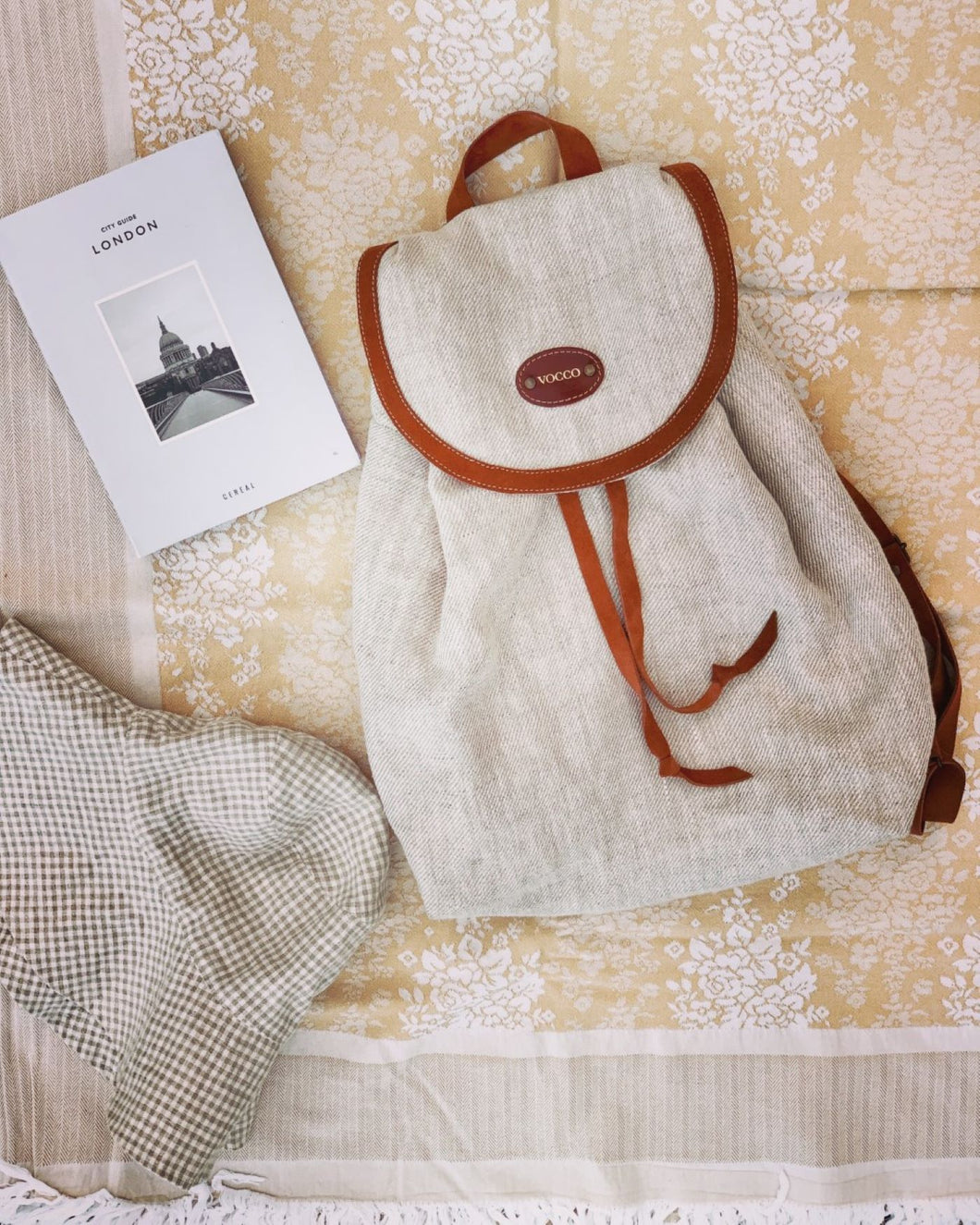 Vocco Linen Backpack Tobacco - Vocco