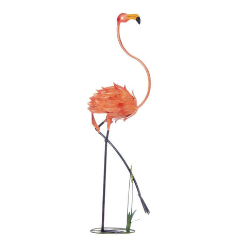 Standing Flamingo Garden Decor - Shop For Decor