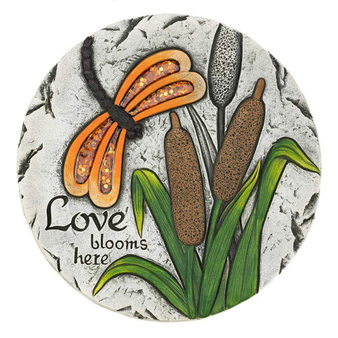 Love Blooms Here Stepping Stone - Shop For Decor