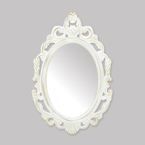 Antiqued White Wall Mirror - Shop For Decor