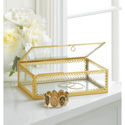 Gold Motif Jewelry Box - Shop For Decor