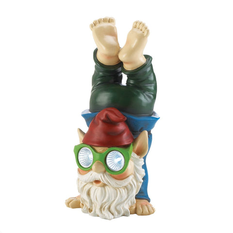 Handstand Solar Gnome Figurine - Shop For Decor