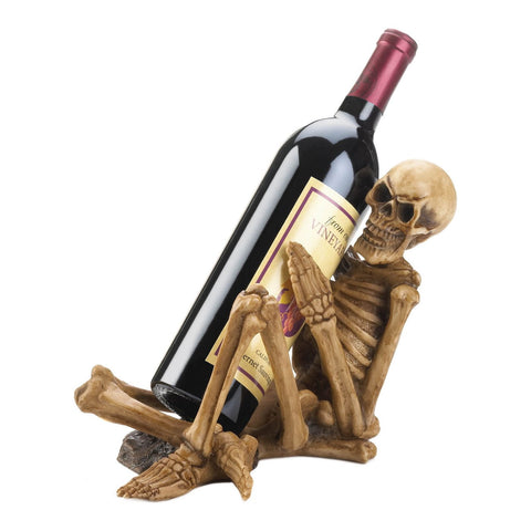 Skeleton Wine Bottle Holder - Shop For Decor