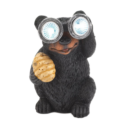 Bear With Telescope Solar Light - Shop For Decor