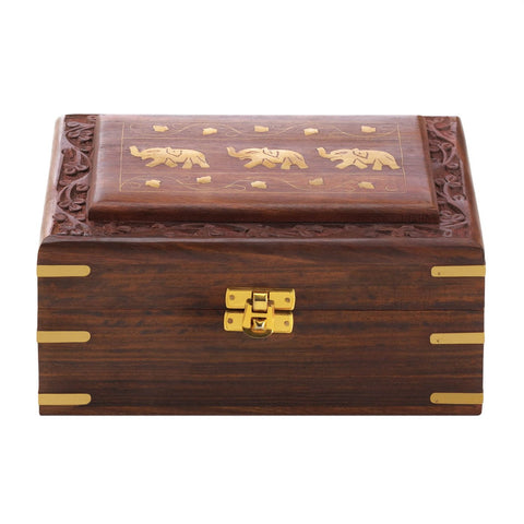 Carved Elephant Jewelry Box - Shop For Decor