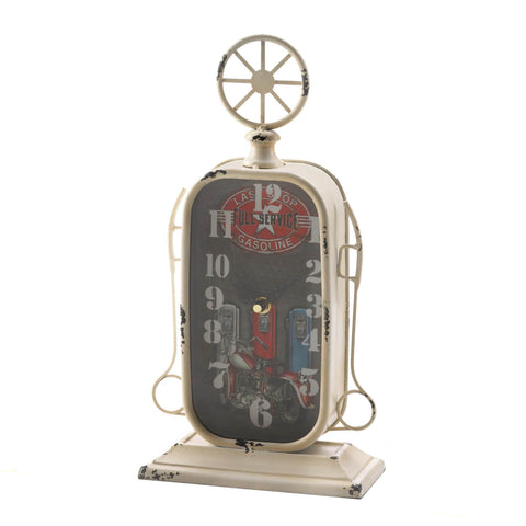 Gas Station Tabletop Clock - Shop For Decor