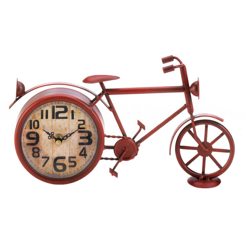Vintage Red Bike Desk Clock - Shop For Decor