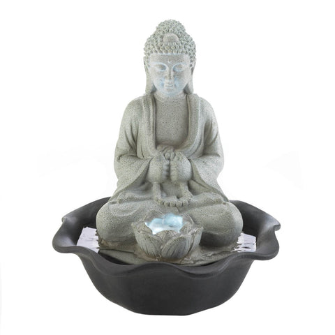 Buddha On Lotus Tabletop Fountain - Shop For Decor
