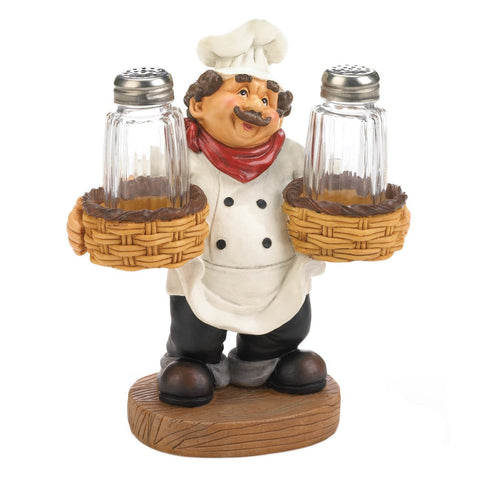 Chef Holder Salt &Pepper Shakers Set - Shop For Decor