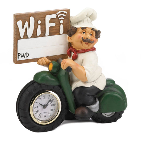 Chef Wifi Sign Clock - Shop For Decor