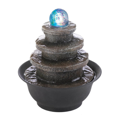 Tiered Round Tabletop Fountain - Shop For Decor