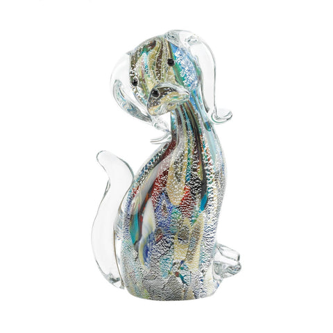 Designer Dog Art Glass Figurine - Shop For Decor