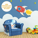 Kids Astronaut Armrest Upholstered Couch - Shop For Decor