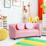 2 Seat Children's Sofa Armrest Chair with Two Pillows - Shop For Decor
