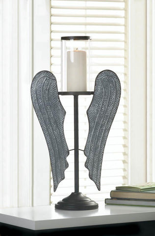 Angel Wings Farmhouse Candle Holder - Shop For Decor