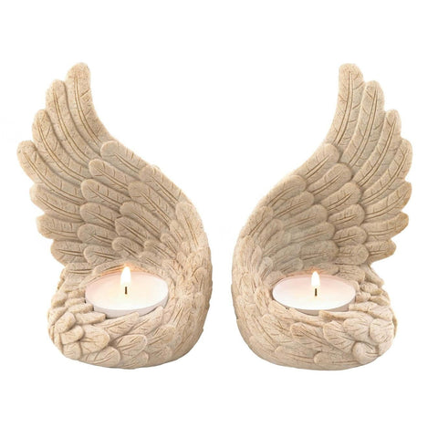 Angel Wings Tealight Set - Shop For Decor