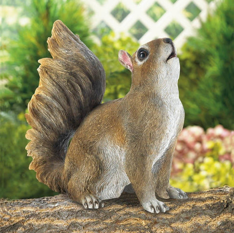 Bushy Tail Squirrel Figurine - Shop For Decor