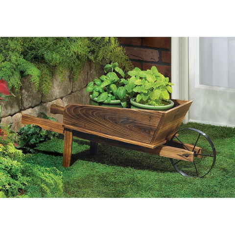 Country Flower Cart Planter - Shop For Decor