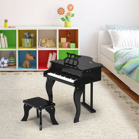 Classic 30 Key Baby Grand Wooden Piano with Bench - Shop For Decor