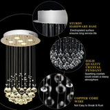 Mount Modern Crystal Chandelier with Crystal Balls - Shop For Decor