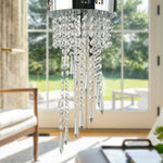Elegant Ceiling Crystal Chandeliers with Stainless Base - Shop For Decor