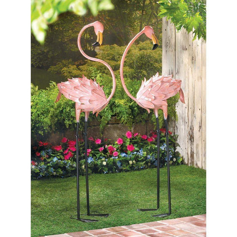 Flamboyant Flamingo Garden Stakes - Shop For Decor