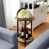 "17"" Italian Style Wooden Globe Liquor Bottle Wine Rack - Shop For Decor"