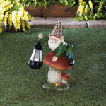 Gnome On Mushroom Solar Statue - Shop For Decor