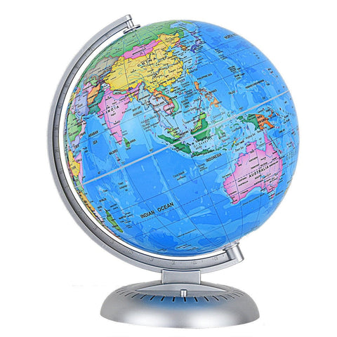 "8"" Illuminated Up-to-date Built-in LED Night World Globe - Shop For Decor"