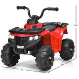 6V Battery Powered Children Electric Ride on ATV - Blue, Red or White - Shop For Decor