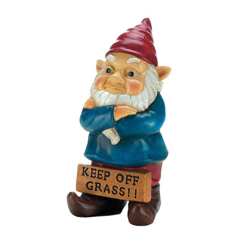 Keep Off Grass Grumpy Gnome - Shop For Decor