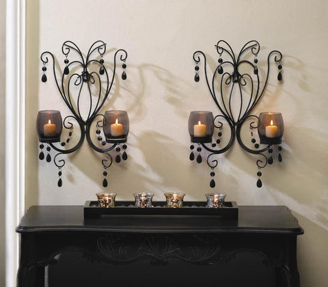 Midnight Elegance Candle Wall Sconces - Shop For Decor