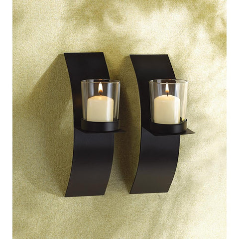 Modern Art Candle Sconce Duo - Shop For Decor