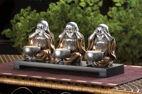 No Evil Buddha Candle Stand - Shop For Decor