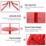 Kids Patio Folding Table and Chairs Set with Umbrella Beetle Pattern - Shop For Decor