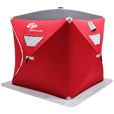 3-person Portable Pop-up Ice Shelter Fishing Tent with Bag - Shop For Decor