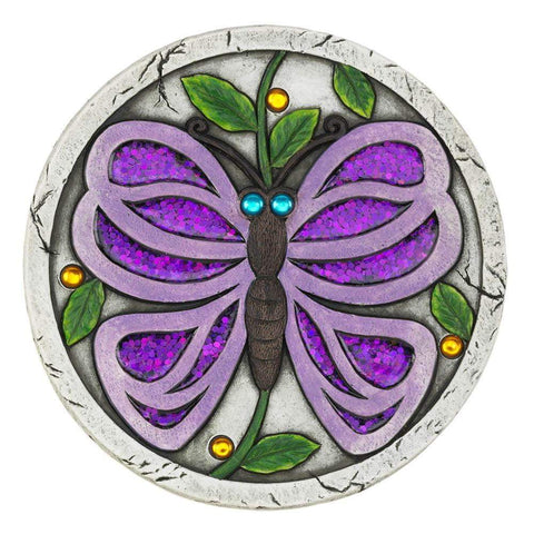 Purple Butterfly Garden Stepping Stone - Shop For Decor