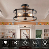 Retro Flush Mount Living Room Ceiling 3 Light - Shop For Decor