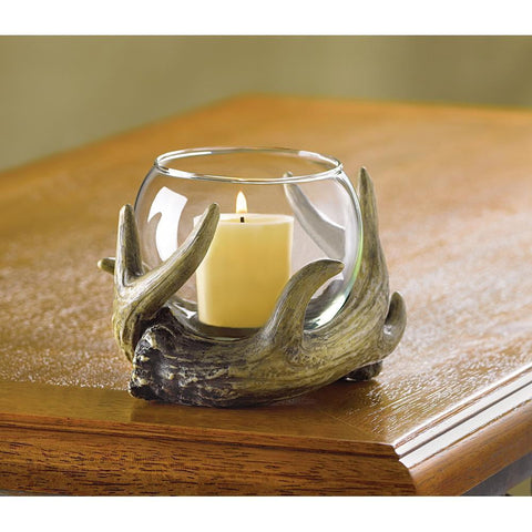 Rustic Antler Candle Holder - Shop For Decor