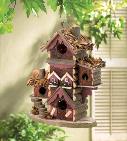 Rustic Gingerbread Style Bird House - Shop For Decor
