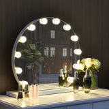 12 bulbs Modes Touch Screen Dimming Hollywood Style Makeup Vanity Mirror - Shop For Decor