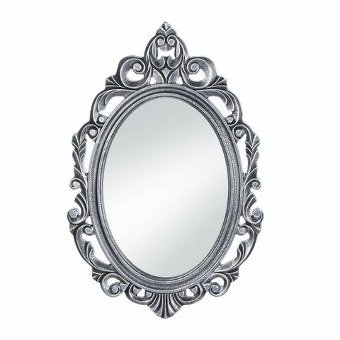 Silver Royal Crown Wall Mirror - Shop For Decor