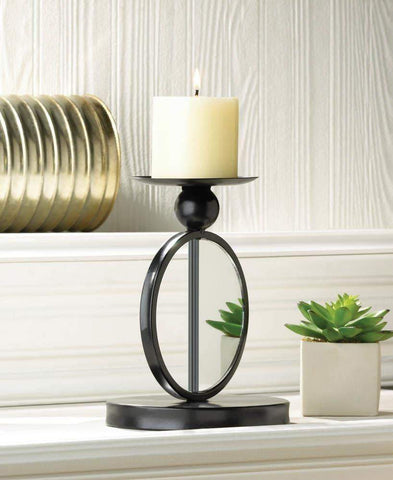 Single Mirrored Candle Holder - Shop For Decor